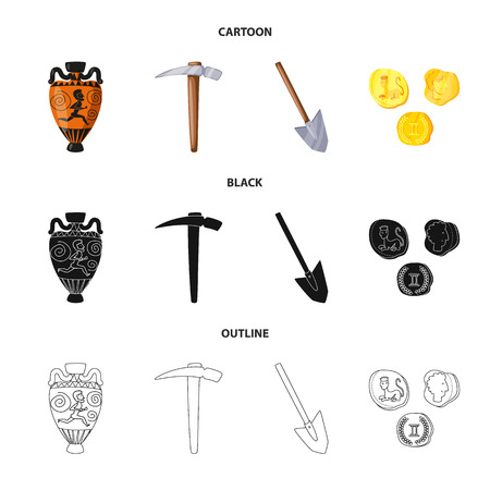 Isolated object of story and items logo. Set of story and attributes  vector icon for stock.