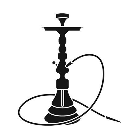 Vector illustration of hookah and shisha  logo. Set of hookah and accessory stock vector illustration. Çizim