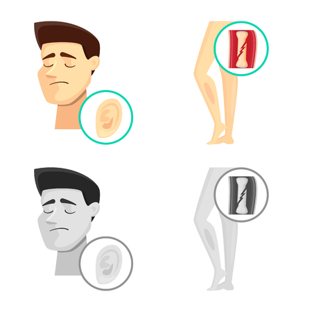 Isolated object of hospital and rendering icon. Collection of hospital and help stock vector illustration.