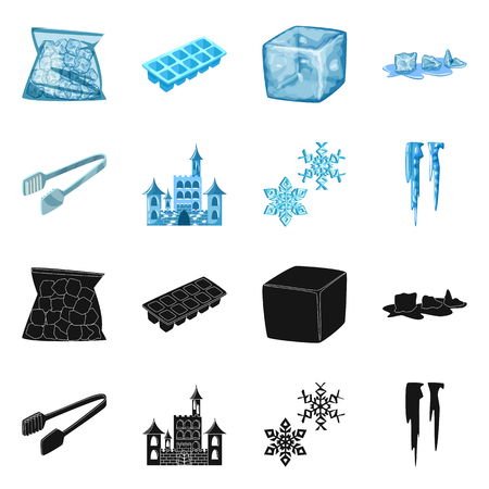 Vector illustration of texture  and frozen  symbol. Collection of texture  and transparent  vector icon for stock.