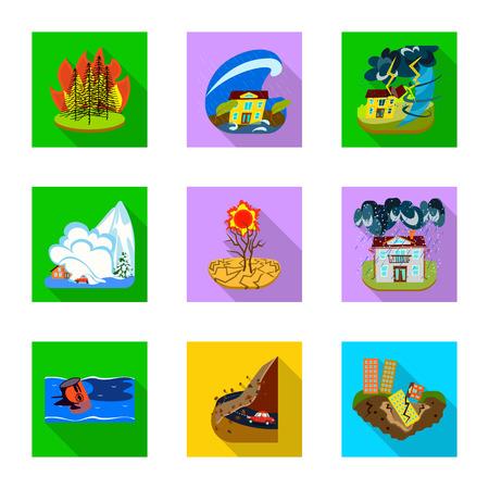 Conception de vecteur d'icône d'effondrement et d'environnement. Collection d'illustration vectorielle stock effondrement et détresse.
