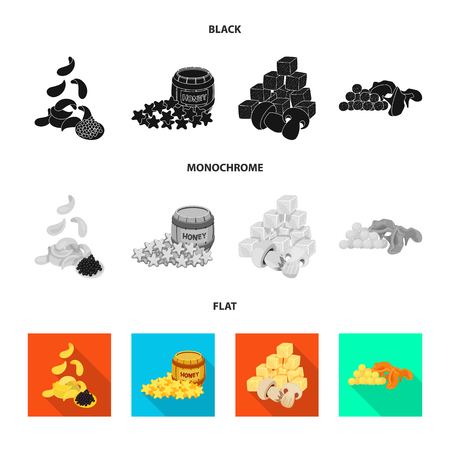 Vector design of taste and seasonin sign. Set of taste and organic   stock vector illustration.