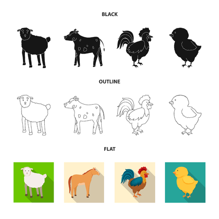 Vector illustration of breeding and kitchen  symbol. Set of breeding and organic  stock vector illustration.