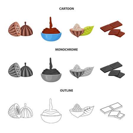 Vector illustration of food and yummy icon. Collection of food and brown   vector icon for stock.