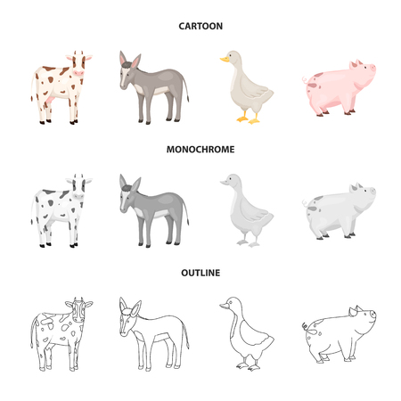 Vector illustration of breeding and kitchen  symbol. Collection of breeding and organic  stock symbol for web.  イラスト・ベクター素材