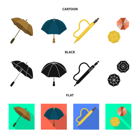 Vector illustration of protection and closed sign. Collection of protection and rainy stock vector illustration.