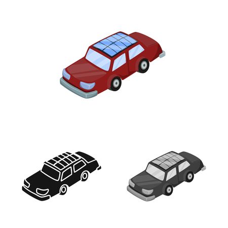 Vector design of car  and electric  symbol. Set of car  and economy vector icon for stock. Фото со стока - 120748995
