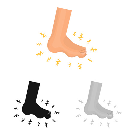 Vector design of foot  and flatfoot  logo. Collection of foot  and anatomy  stock symbol for web.