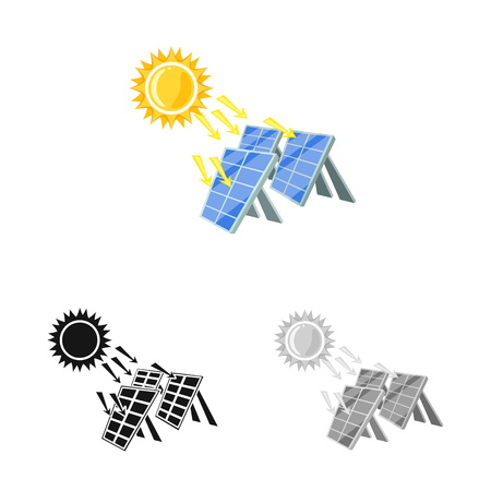 Isolated object of thermal and station    symbol. Set of thermal and power vector icon for stock.
