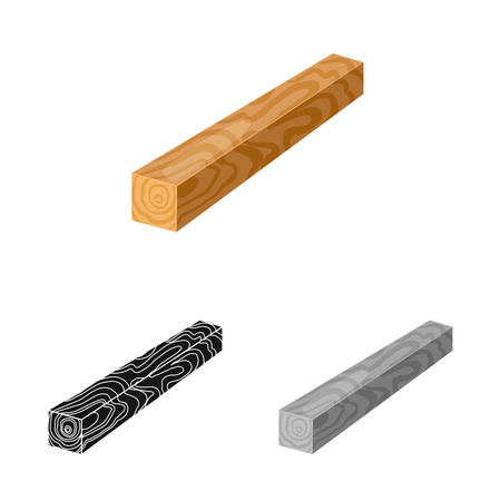 Vector illustration of timber and piece symbol. Collection of timber and section  vector icon for stock. 写真素材 - 120749215