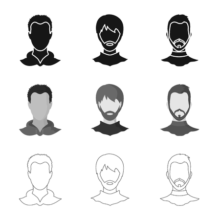 Isolated object of professional and photo sign. Set of professional and profile vector icon for stock.