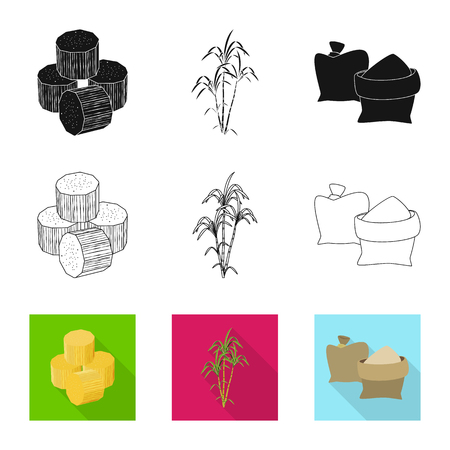 Vector design of farm and agriculture  sign. Set of farm and technology vector icon for stock.