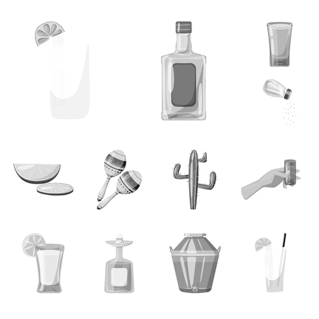 Isolated object of fajita and fiesta logo. Collection of fajita and celebration vector icon for stock.