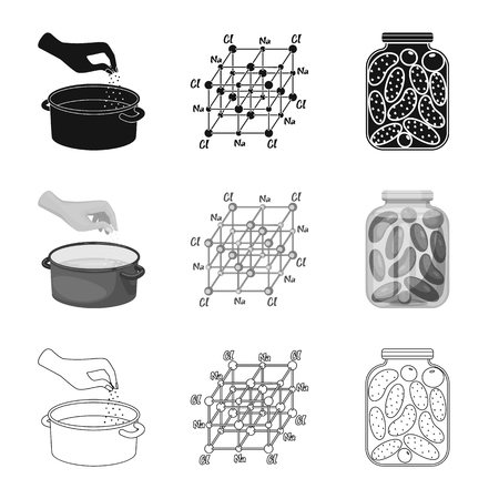 Vector illustration of cooking and sea icon. Collection of cooking and baking   stock symbol for web.