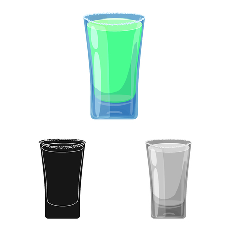 Vector illustration of glass and water  sign. Set of glass and clear stock vector illustration.