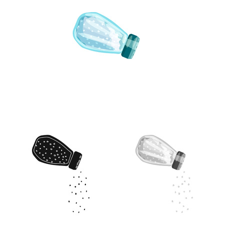 Isolated object of bottle  and salt symbol. Collection of bottle  and pack  stock symbol for web.