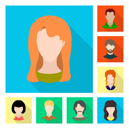 Isolated object of avatar and dummy symbol. Set of avatar and figure stock symbol for web. Illustration