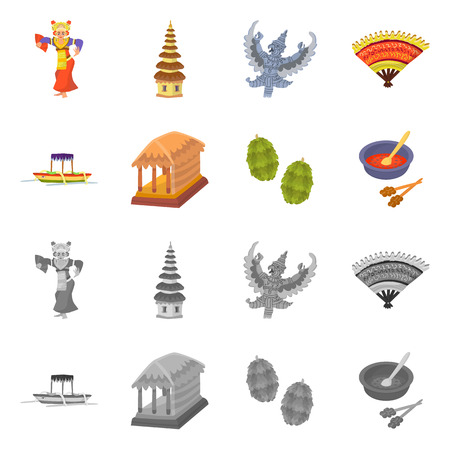 Vector design of  and travel icon. Set of  and traditional vector icon for stock.