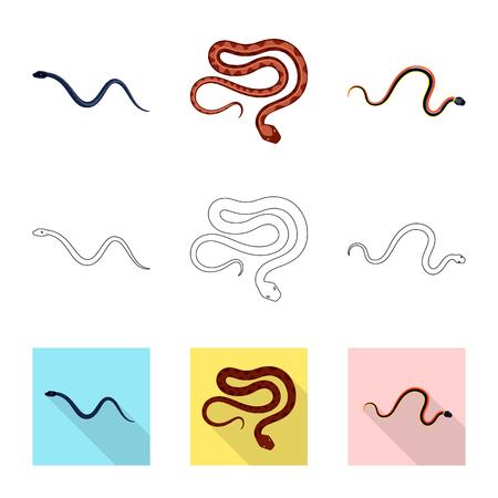 Vector design of mammal and danger symbol. Set of mammal and medicine stock symbol for web.