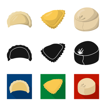 Vector design of products  and cooking . Collection of products  and appetizer vector icon for stock.