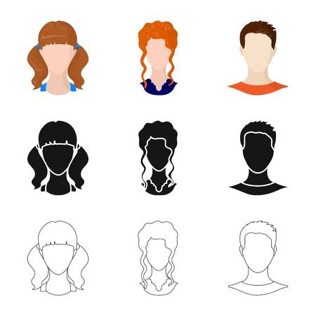 Isolated object of professional and photo logo. Set of professional and profile vector icon for stock.