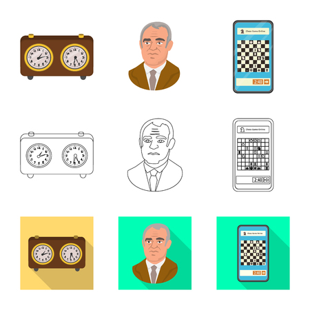 Vector design of checkmate and thin symbol. Set of checkmate and target vector icon for stock.  イラスト・ベクター素材