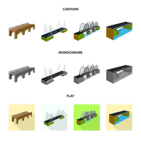 Vector illustration of connection and design symbol. Collection of connection and side stock vector illustration. Çizim