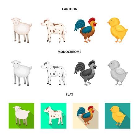 Vector design of breeding and kitchen  symbol. Collection of breeding and organic  vector icon for stock.