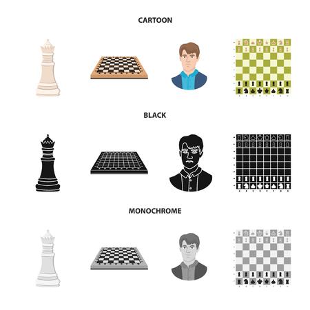 Disegno vettoriale di scacco matto e simbolo sottile. Set di scacco matto e icona di vettore di destinazione per stock. Vettoriali