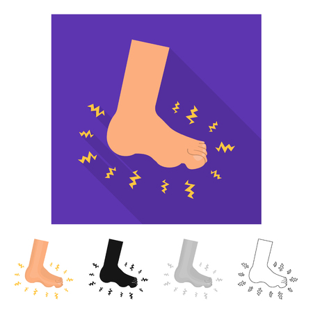 Isolated object of foot  and flatfoot  icon. Collection of foot  and anatomy  stock symbol for web.
