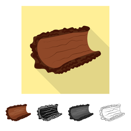 Isolated object of bark  and piece sign. Set of bark  and lumber  vector icon for stock. Foto de archivo - 120952589