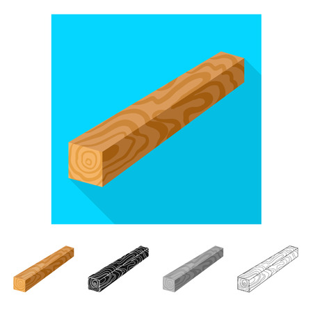 Vector illustration of timber and piece logo. Set of timber and section  stock vector illustration.  イラスト・ベクター素材