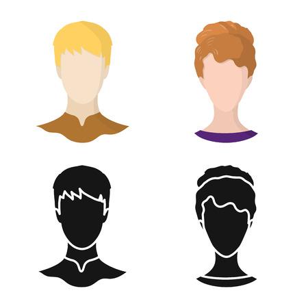 Illustrazione vettoriale del logo professionale e fotografico. Insieme di simbolo di borsa professionale e profilo per il web.