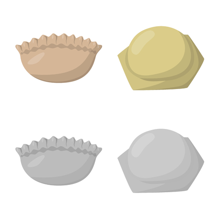 Isolated object of products  and cooking logo. Collection of products  and appetizer stock symbol for web.