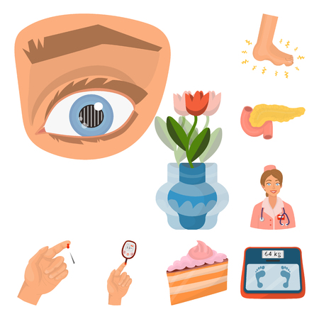 Vector design of mellitus and diabetes icon. Set of mellitus and diet stock vector illustration.