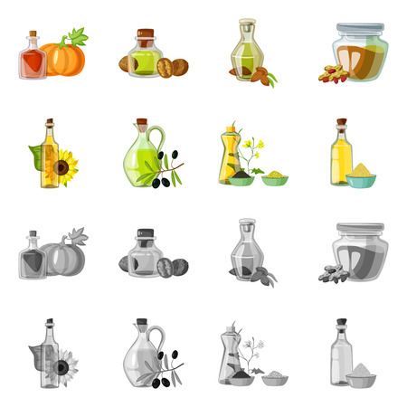 Isolated object of healthy  and vegetable  icon. Set of healthy  and agriculture vector icon for stock. Reklamní fotografie - 120953523