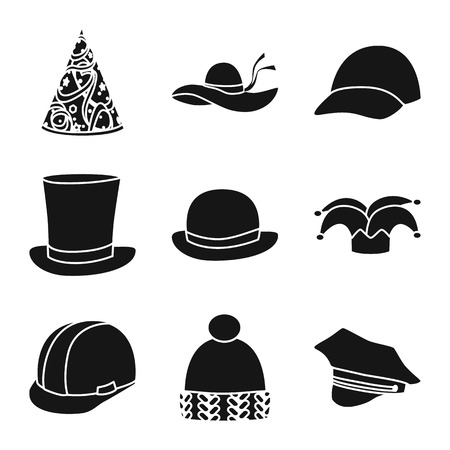 Isolated object of beanie  and beret symbol. Collection of beanie  and napper vector icon for stock.