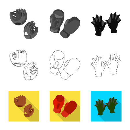 Isolated object of silhouette and safety symbol. Collection of silhouette and comfort stock symbol for web.