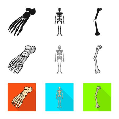 Vector design of medicine and clinic symbol. Set of medicine and medical vector icon for stock.