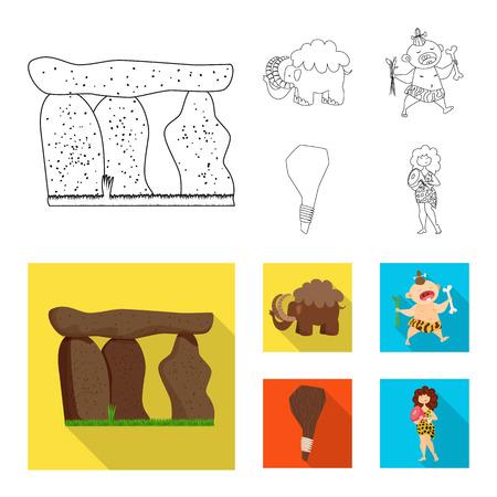 Vector design of evolution and prehistory symbol. Set of evolution and development stock vector illustration.