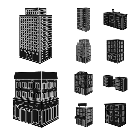 Isolated object of architecture and estate icon. Set of architecture and build stock symbol for web.