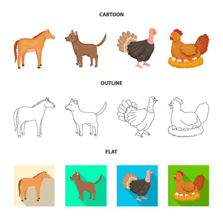 Isolated object of breeding and kitchen. Collection of breeding and organic  stock symbol for web. Illustration