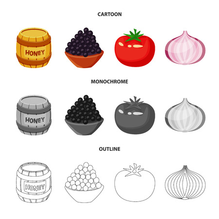 Vector illustration of taste and product logo. Set of taste and cooking vector icon for stock. Imagens - 123344062