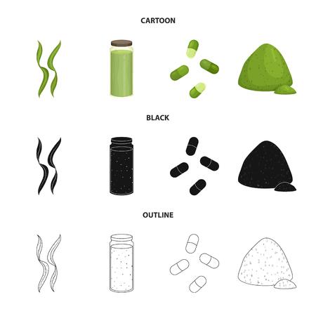 Vector illustration of protein and sea icon. Set of protein and natural stock vector illustration. Ilustração