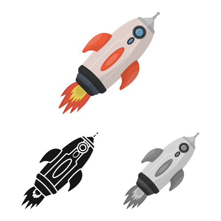 Vector design of rocket and launch  icon. Set of rocket and spaceship vector icon for stock.