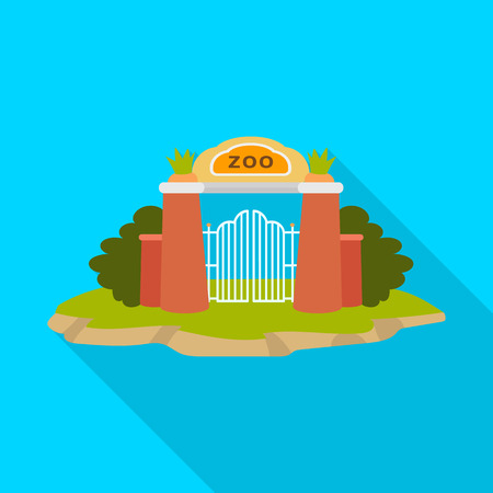 Vector design of gate  and arch. Collection of gate  and wall stock vector illustration.