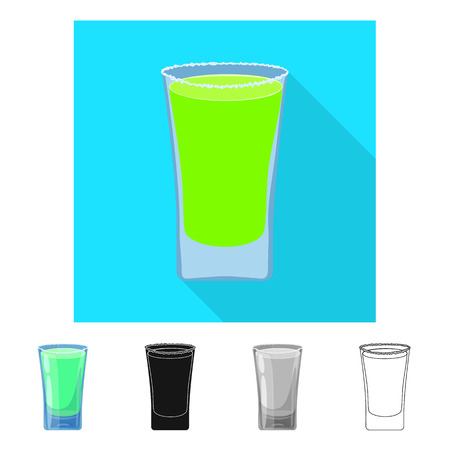 Vector design of glass and water  symbol. Set of glass and clear stock vector illustration.
