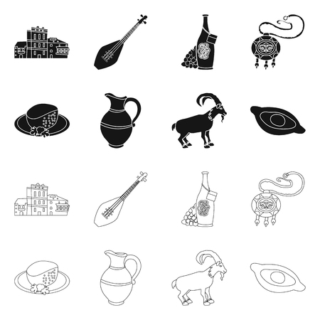 Vector design of culture and sightseeing sign. Set of culture and originality vector icon for stock.