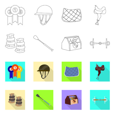 Isolated object of equipment and riding sign. Collection of equipment and competition vector icon for stock. Illustration