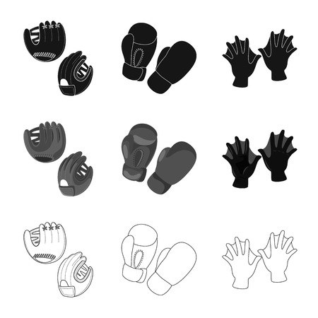 Vector design of silhouette and safety icon. Collection of silhouette and comfort vector icon for stock.